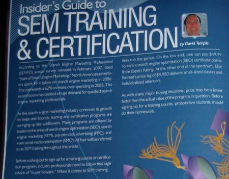 SEM Training by DavidTemple