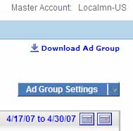 Ad Group Settings