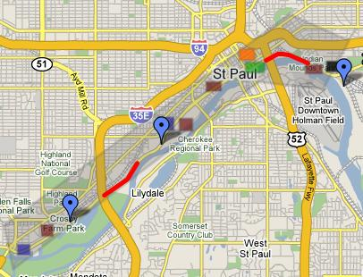 St. Paul Inline Marathon Map