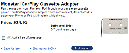 iPhone Car Cassette Adapter