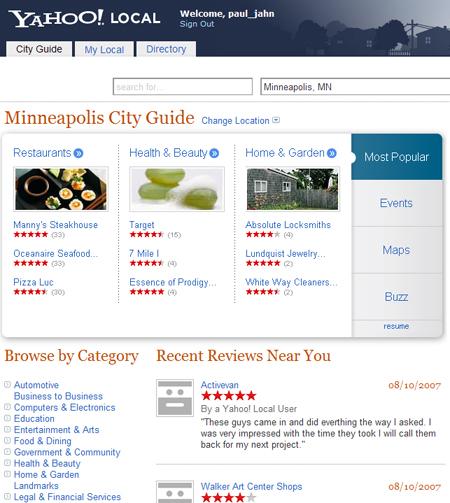 Yahoo Local inMinneapolis