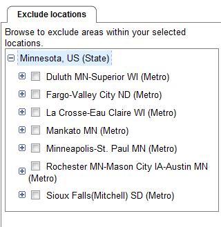 Targeting MinnesotaAreas