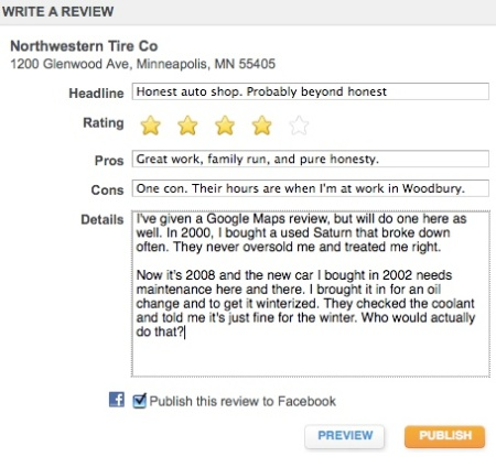 Northwestern Tire Review