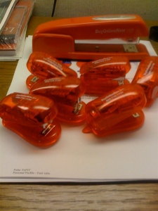 Litter of Red Staplers