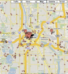 Google Map of attorneys in Minneapolis