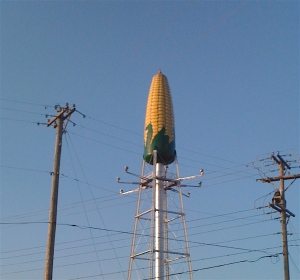 Corn Cob Water Tower
