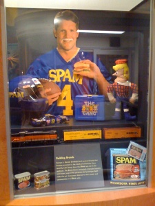 Old pic of Brett Favre at the Austin Spam Museum