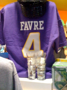 Purple Favre Jersey & Favre Shot Glasses