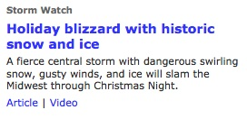 Blizzard Warning