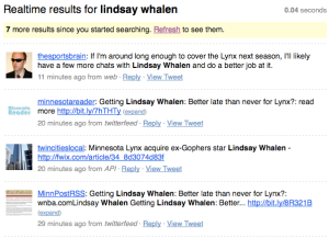 Lindsay Whalen Mentions on Twitter