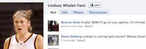 Lindsay Whalen Now a Lynx