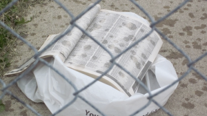Unwanted Phone Book Getting Wet